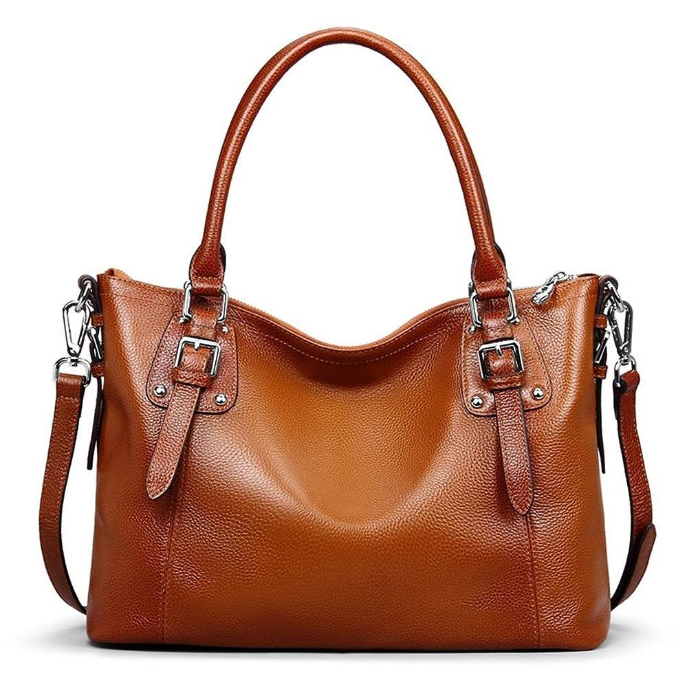 e386752cde2f S-ZONE Women s Vintage Genuine Leather Tote Large Shoulder Bag Handbag  Cross Body Bag