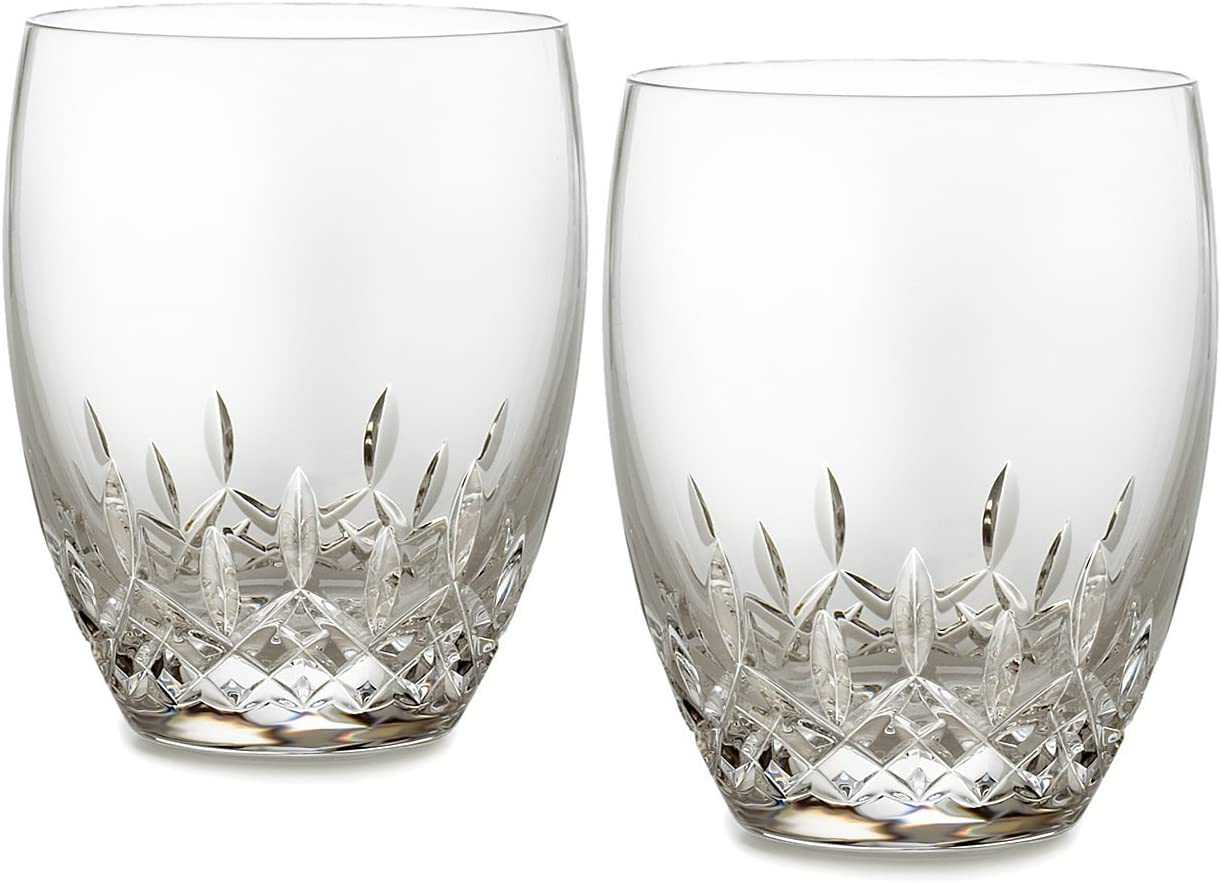 Waterford Elegance DOF Glass Set of 2 Hand Made Fine Crystal Open Box