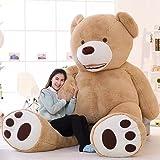 MorisMos Groß Teddybär Weiches Plüschspielzeug Braun 200cm/79