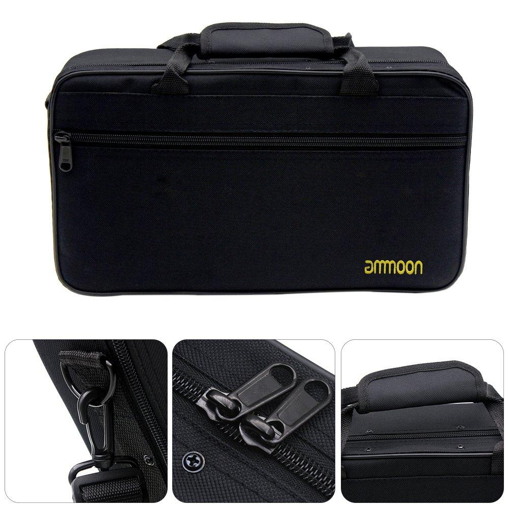 ammoon /Étui /à Clarinette Sac de Rangement R/ésistant /à leau 600D Rembourrage en Coton Mousse avec Bandouli/ère R/églable Andoer 055654