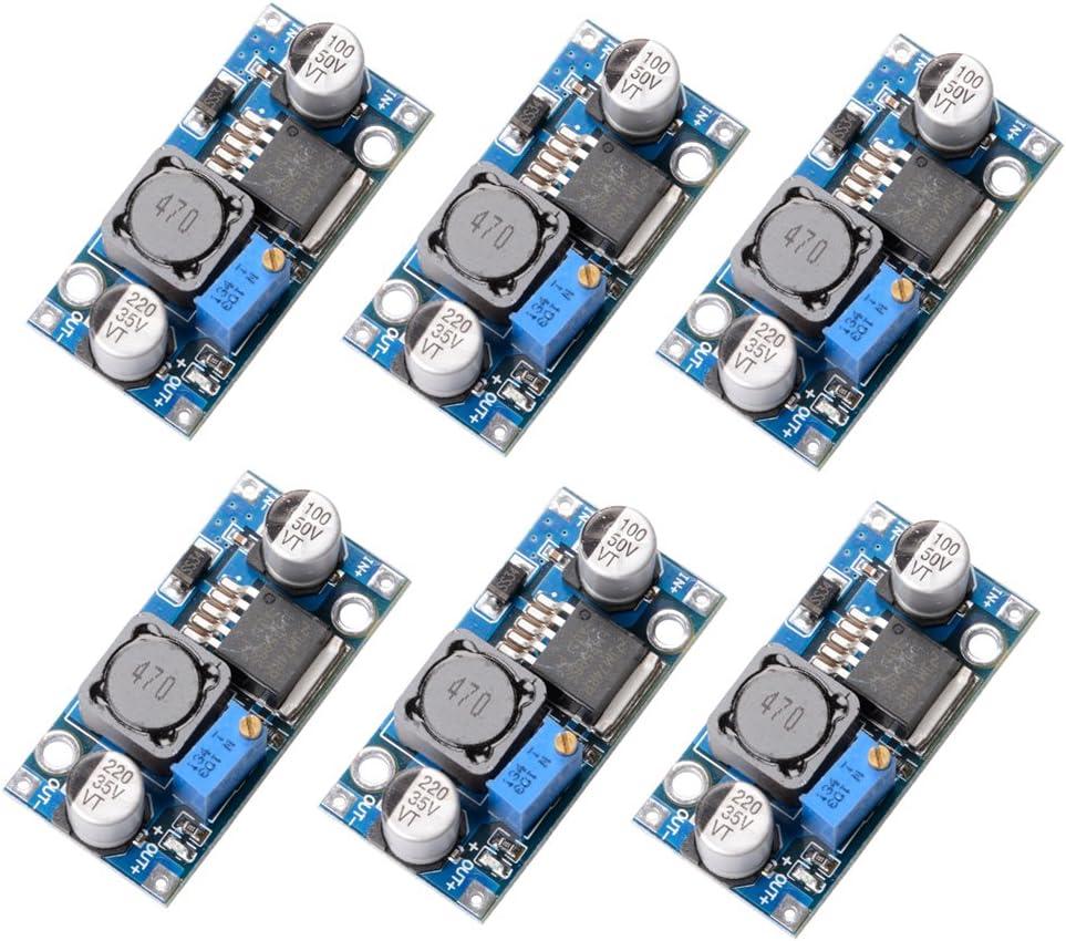 Muzoct 6paquetes LM2596 DC a DC Buck Converter 3.0 – 40V to 1,5 – 35V Fuente de Alimentación Paso Abajo Módulo Convertidor