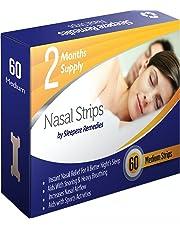 Tiras nasales mediana x60 | Dilatador nasal Sleepeze Remedies® para dejar de roncar y ayudar