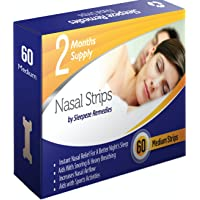 Nasal Strips Medium x60 by Sleepeze Remedies®   Nose Strips to Stop Snoring and Help You Breathe Right Through Your Nose   Nasal Strip Snoring Aids & Anti Snore Devices That Support Sleep Apnea and For Nasal Congestion