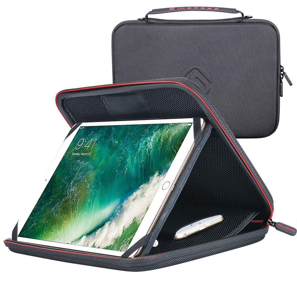 Smatree Housse de Transport Rigide pour iPad Pro 10.5 Pouces Tablette, avec Support réglable pour Tablette PC 10.5, avec Pochette pour iPhone 8 Plus, Apple Pencil et Autres Accessoires