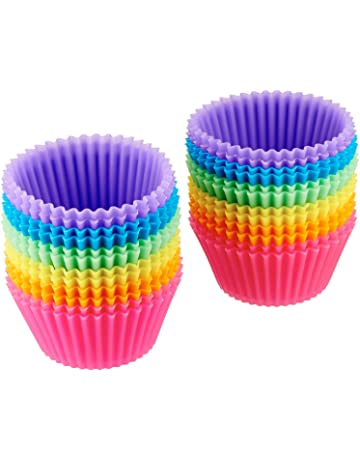 AmazonBasics Reusable Silicone Baking Cups