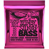 Ernie Ball Super Slinky Nickel Wound Short Scale Bass Strings - 45-100 Gauge