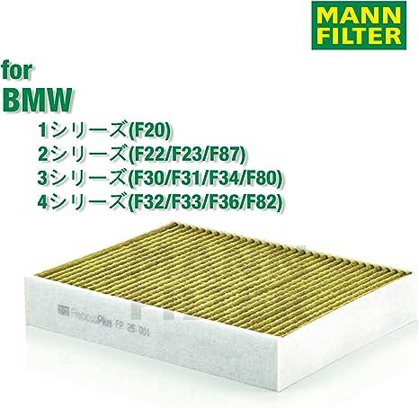 Intérieur Filtre pollen filtre charbon actif BMW 1er f20 f21 BMW 3er f30 f31 f34