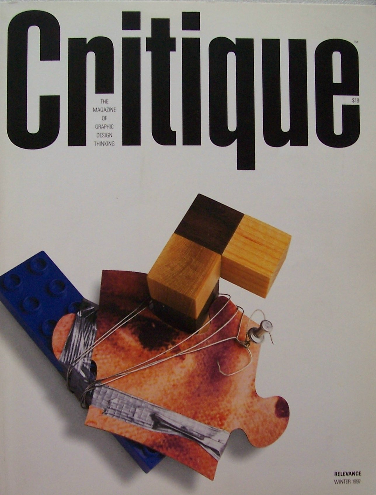 critique relevance number 3 winter 1997 the magazine of graphic design thinking number 16