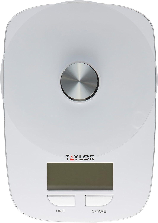 Taylor Glass Platform Digital Kitchen Scale (White)