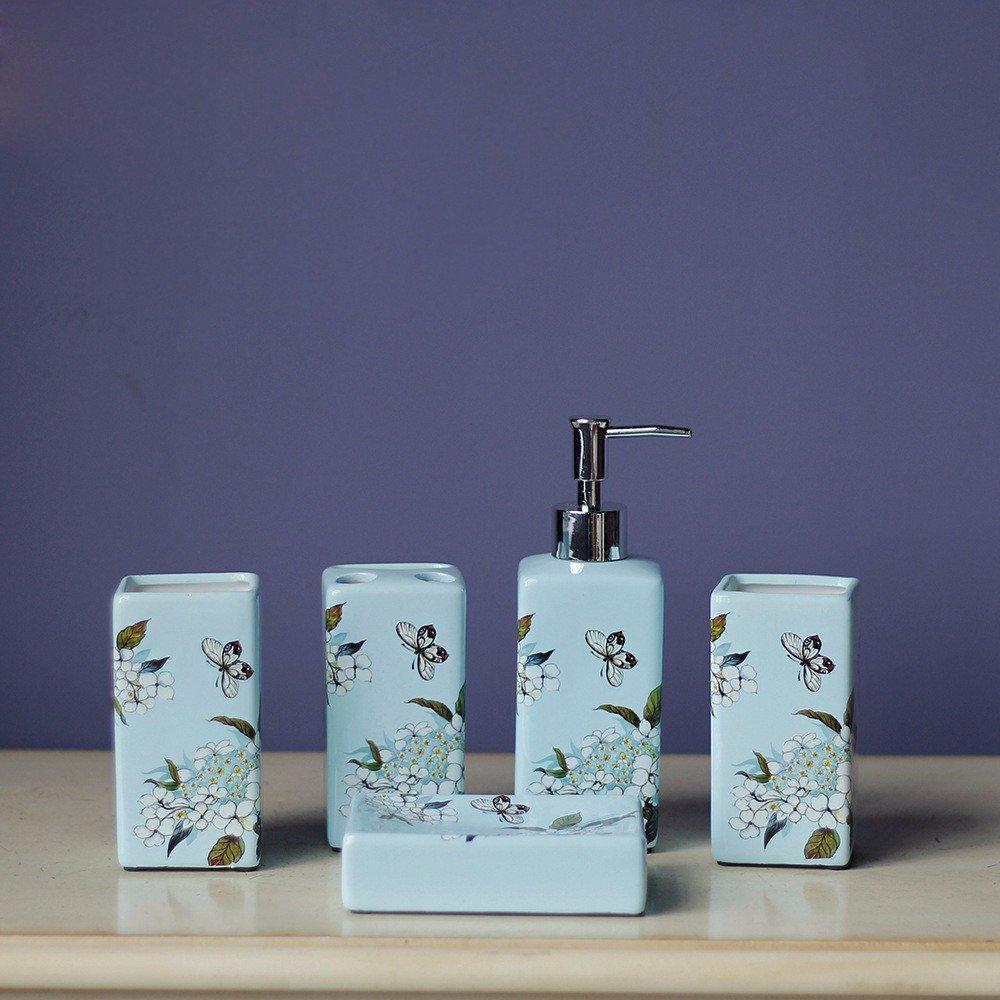 GTVERNH-Recipients Of Gifts Bathroom Vanity Sets Swing Ceramic Bath 5 Piece Set The Hotel Bathroom Toiletries