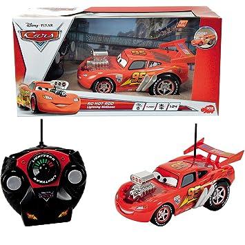 Cars 2 RC Hot Rod Lightning Mcqueen con Turbo velocidad, 22 cm: Auto eléctrico teledirigido Carreras Juegos de: Amazon.es: Juguetes y juegos