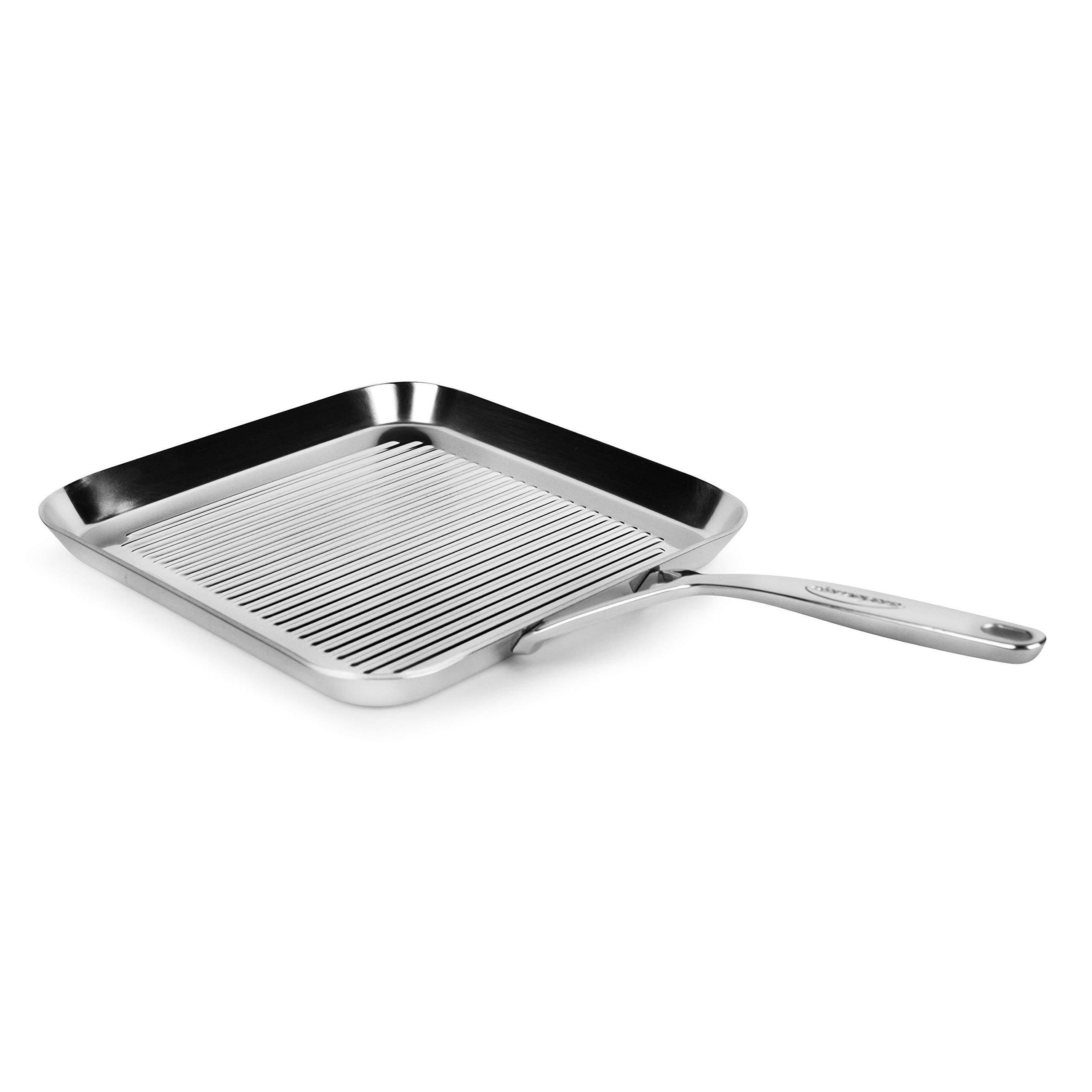 Demeyere 5-Plus 11-inch Stainless Steel Grill Pan