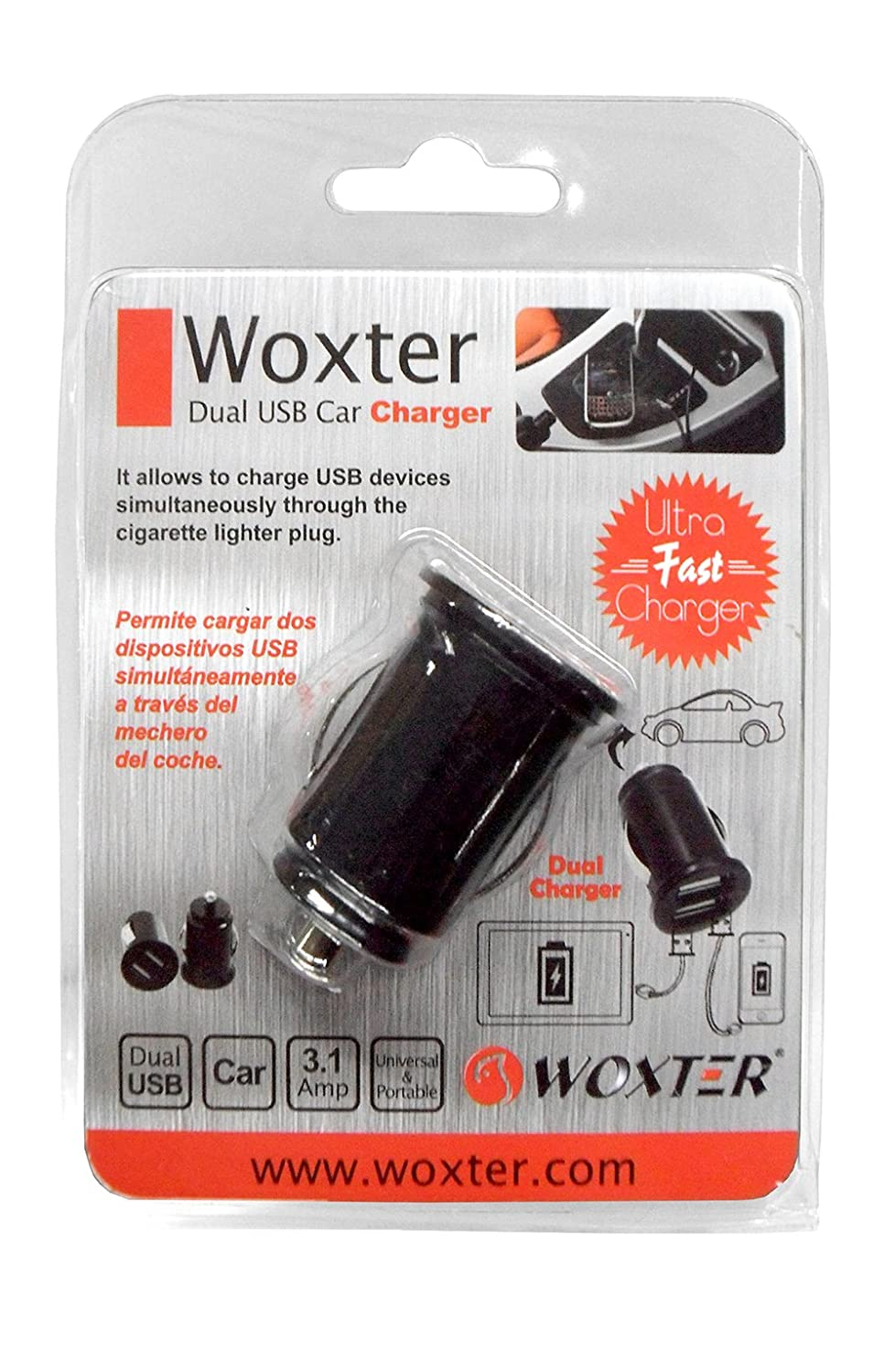 Woxter TB26-168 - Cargador de coche, doble USB: Amazon.es ...