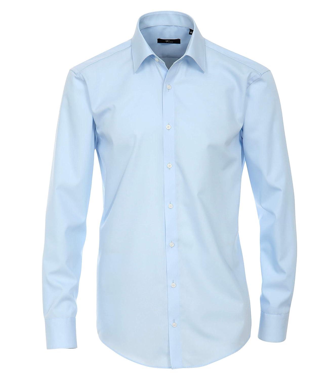 Venti - Camisa slim fit de manga larga para hombre, 102 bleu, 45: Amazon.es: Ropa y accesorios