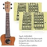 Decalcomanie per chitarre perfette per i principianti, alaman 100%, vinile note multicolori, aiuta a ridurre le difficoltà di apprendimento nel suonare la chitarra Gitarren Griffbrett WHITE Guitar Fretboard