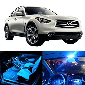 Superieur CCIYU For Infiniti QX70 2014 2017 Package Kit Ice Blue LED Interior Light  Accessories Replacement
