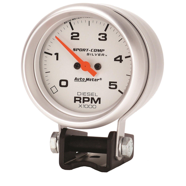 Auto Meter 3788 Sport-Comp Silver Mini Tachometer