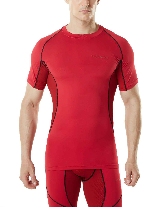 TSLA Mens Short Sleeve T-Shirt Cool Dry Compression Baselayer MUB73//MUB03//R13//R14 Tesla Gears