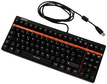 Rapoo VPro V500 - Teclado mecánico de Gamer (Botones programables, QWERTZ alemán),