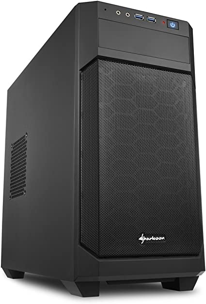 Sharkoon V1000 - Caja de Ordenador, PC Gaming, MICRO-ATX, Negro: Sharkoon: Amazon.es: Informática