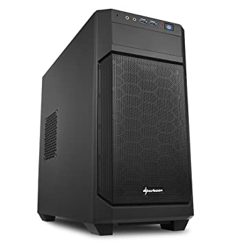 Sharkoon V1000 - Caja de Ordenador, PC Gaming, MICRO-ATX, Negro