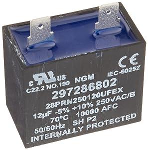Frigidaire 297286802 Frigidare Freezer Run Capacitor