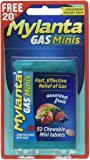 Mylanta Gas Minis, Assorted Fruit, 60 Count, Gas Relief Tablets