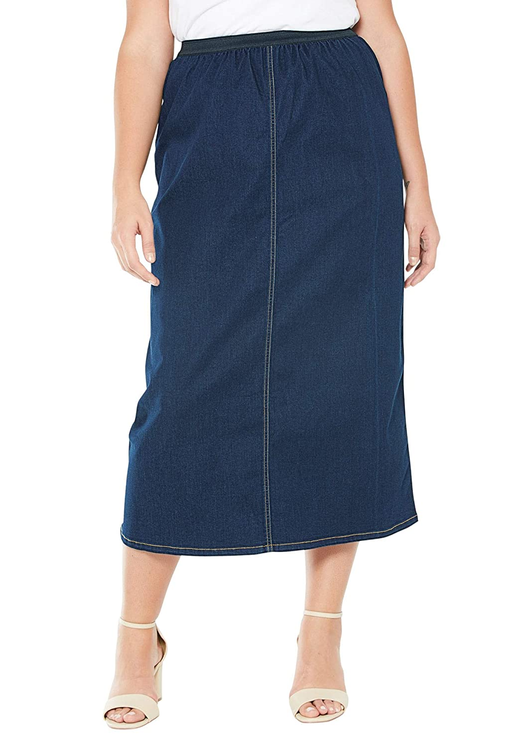 Jessica London SKIRT レディース B07823RNLD 26 Plus|Indigo Wash Indigo Wash 26 Plus
