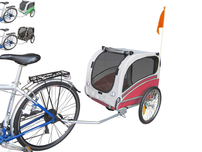 Polironeshop Snoopy - Remorque de vélo pour transporter chien, animal, etc. M rouge