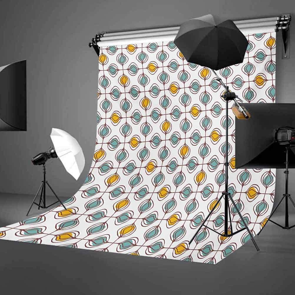 10x15 FT Photo Backdrops,Floral Repeated Ornament in Hand Drawn Style Retro Modern Geometric Art Design Background for Kid Baby Boy Girl Artistic Portrait Photo Shoot Studio Props Video Drape Vinyl