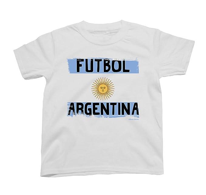 Buzz Shirts Niños O Niñas Camiseta Futbol Argentina Copa Mundial 2018 Fútbol Kids Patriotic Copa America: Amazon.es: Ropa y accesorios