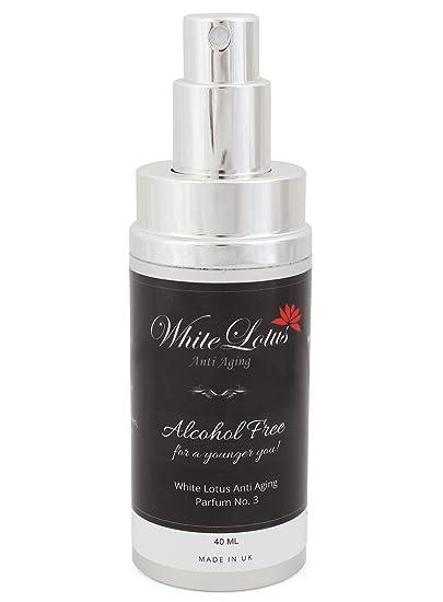 White Lotus Anti Aging - Perfume Sin Alcohol Para Mujer White Lotus Nº3 Hipoalergénico Para Pieles Sensibles - Aceite Perfumado Natural Attar Ittar Hidrata ...