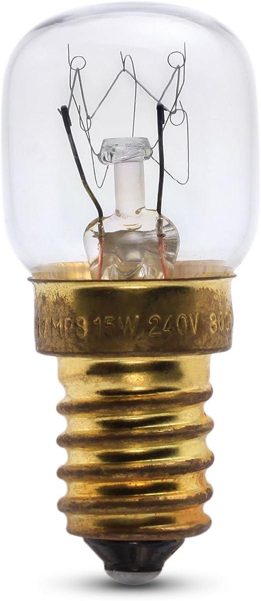 E14 15 W Crompton 15W SES Cap 240v Clear 300/ºC Pygmy Oven Lamp