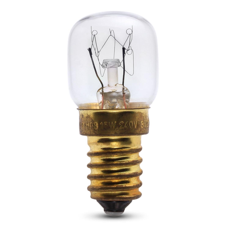 15W SES Cap 240v Clear 300ºC Pygmy Oven Lamp CROMPTON