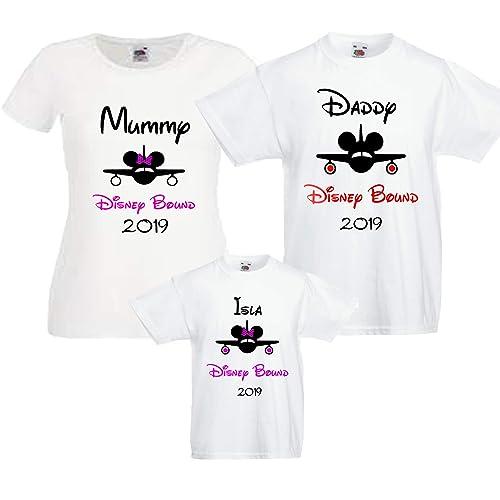 a2f9dc51e Disney Bound 2019 Personalised Family T shirts Bundles: Amazon.co.uk:  Handmade