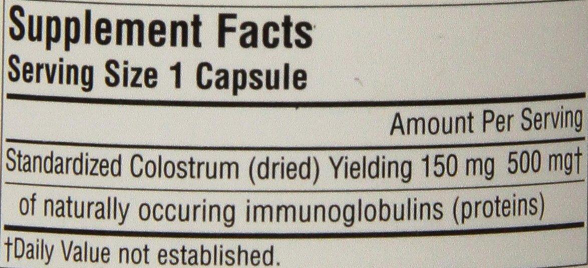 Source Naturals - calostro 30% inmunoglobulinas 150 mg 500 mg. - 60 ...