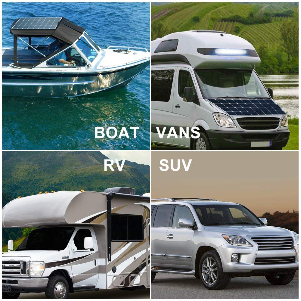 Amazon.com : Hannsolar 25W 18V Lightweight Flexible Monocrystalline Solar Panel for 12V Charge Battery on Boats, Caravans, Motorhomes, Yachts, ...