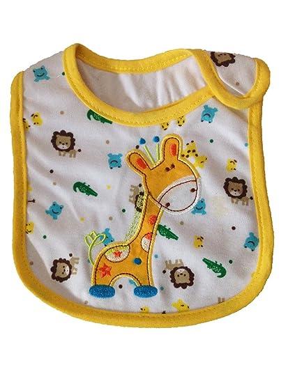 JT-Amigo 9pcs Set Baby Girls Cotton Bibs Waterproof with different Cartoon Patterns