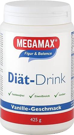 MEGAMAX - Diät Drink - Bebida en polvo para adelgazar y perder grasa - Vainilla - 425 g (10 raciones)