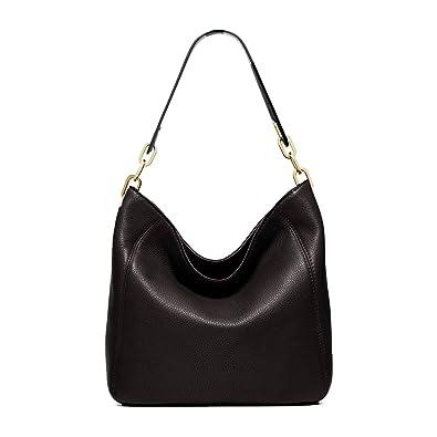 0a32fc1d7 Image Unavailable. Image not available for. Color: Michael Kors Fulton  Medium Leather Shoulder Bag - Black