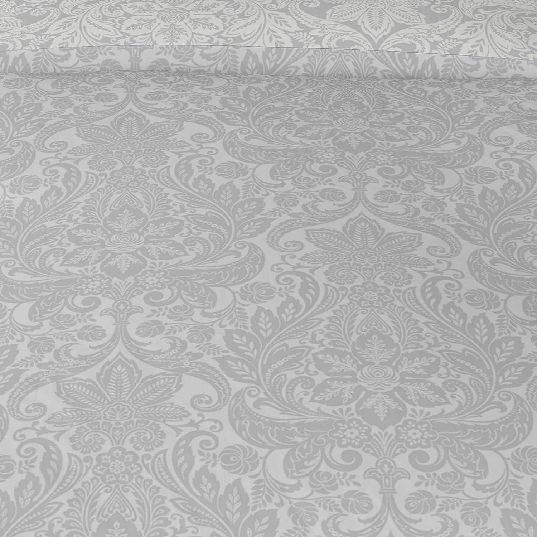 Double Size Silver Ashley Reversible Modern Leaves Drawn Design Duvet Covers IT IDEAL TEXTILES Grey Leaf Print Duvet Cover Easy Care Cotton Blend Bedding Quilt Sets