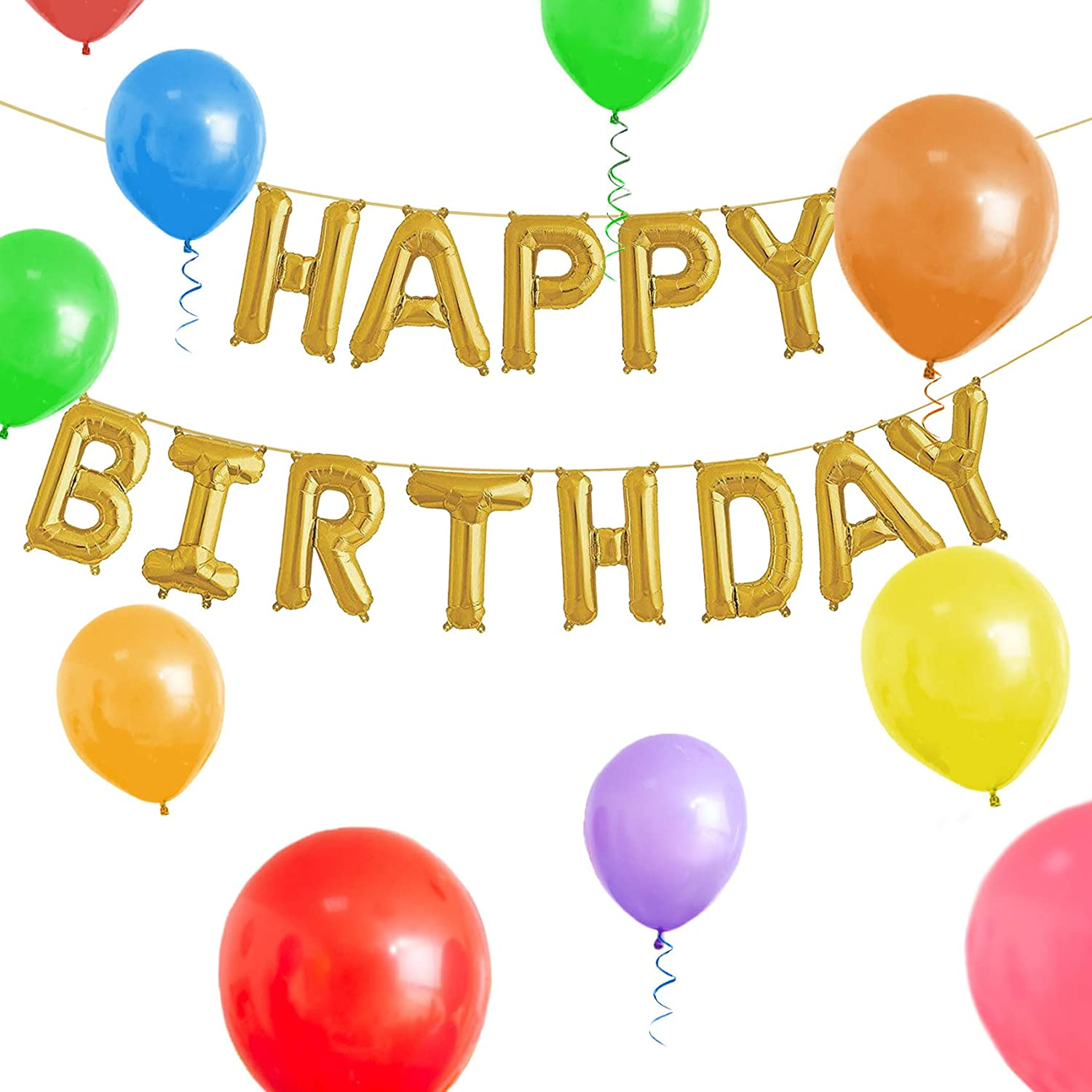 Amazon GIFTEXPRESS Happy Birthday Balloons and Banner 16