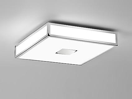 Plafoniera Quadrata 40x40 : Astro lighting plafoniera mashiko 400 metallo cromato e27 120
