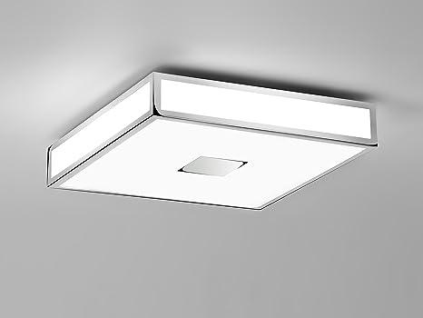 Plafoniera Quadrata E27 : Astro lighting plafoniera mashiko metallo cromato e