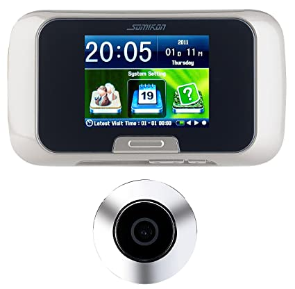 Somikon – Mirilla de puerta con cámara digital (con manual de fotos y grabación de