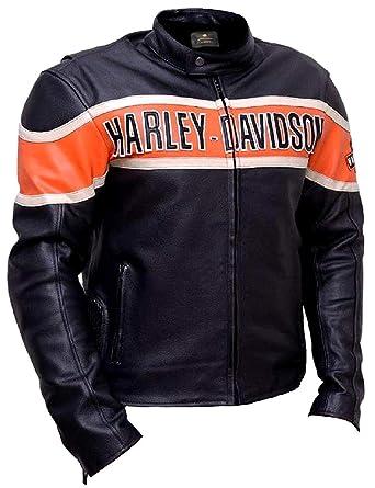 Harley Davidson Biker Genuine Leather Jacket Style Motorcycle At