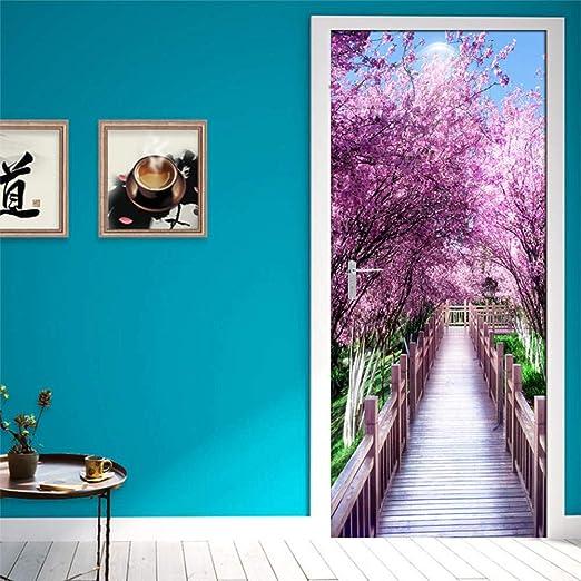 3D Garden Flower Bloom Door Wall Mural Photo Wall Sticker Decal Wall Wallpaper
