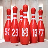 Reusable Bowling Pins Shooting Targets - Range Practice Target Set - Works with Pellet Airsoft Gun Pistol Rifle - Fun Outdoor Shoot Dueling Game - Shooting Accessories Gift