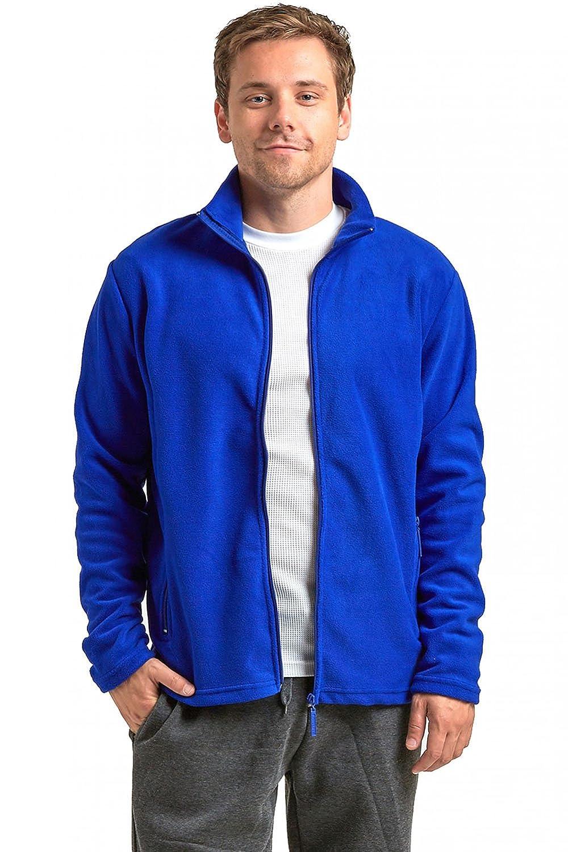 Knocker Men's Polar Fleece Zip Up Long Sleeve Jacket