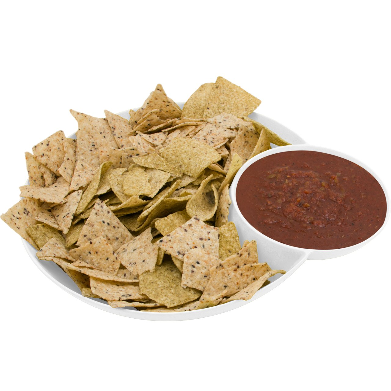 Chips and salsa serving bamboo - Avoseedo Bowl for Chips and Dip, 2 in 1 Snack Bowl in White Bamboo Fibre